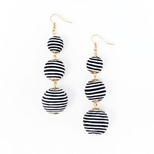 Black & White Ball Drop Earrings